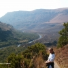 Hub dans le Drakensberg, la région des Bushmans