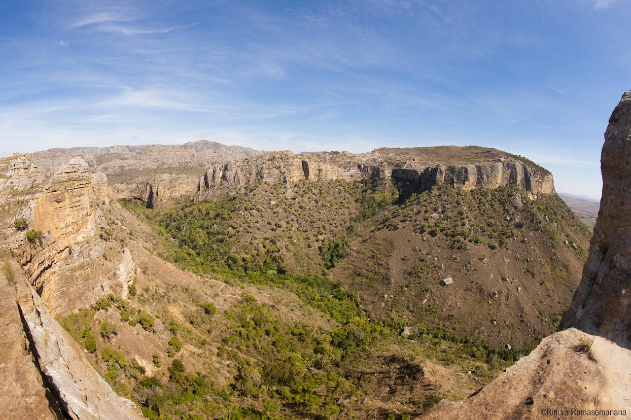 Vue panoramique du parc nationald'Isalo