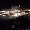 Festivités du soir sur la place Jemaa el-Fna, avec ses restaurants ambulants