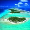 Vue aérienne de l'atoll de Rangiro