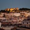 Lisbonne, les hauteurs du centre historique et le chateau St Georges