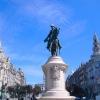 Place Don Pedro IV, roi du Portugal, dans la partie basse de la vieille ville de Lisbonne