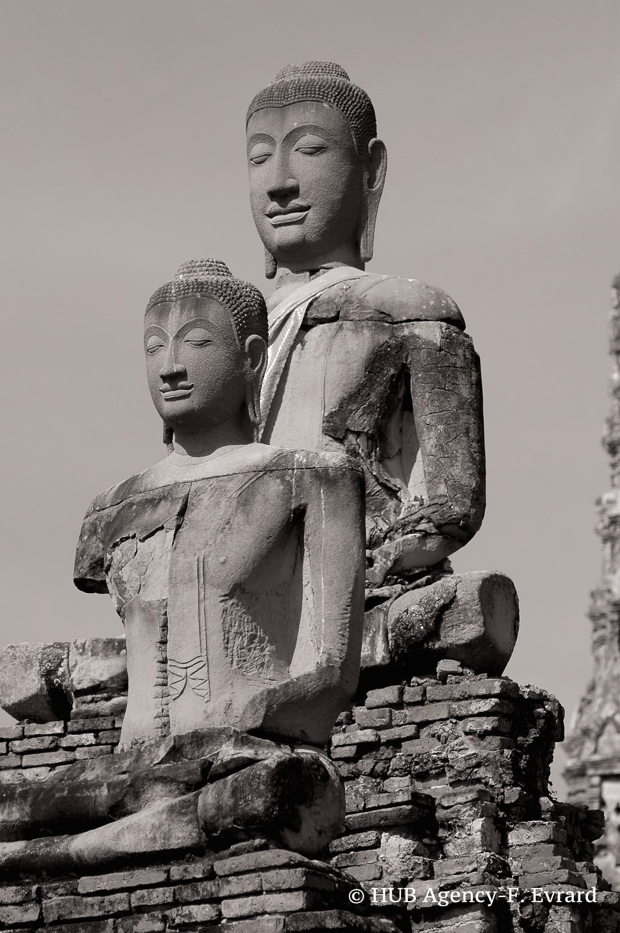 Bouddha assis Ayutthaya