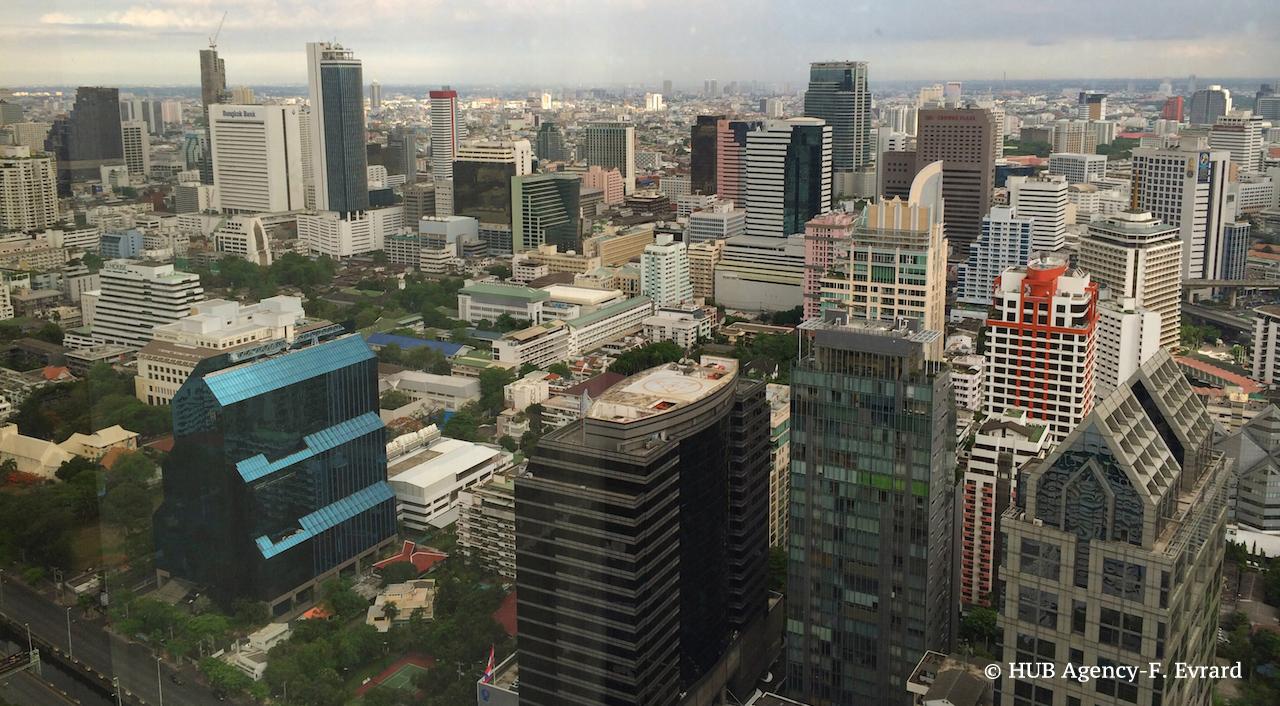 Vue panoramique d''une partie de Bangkok
