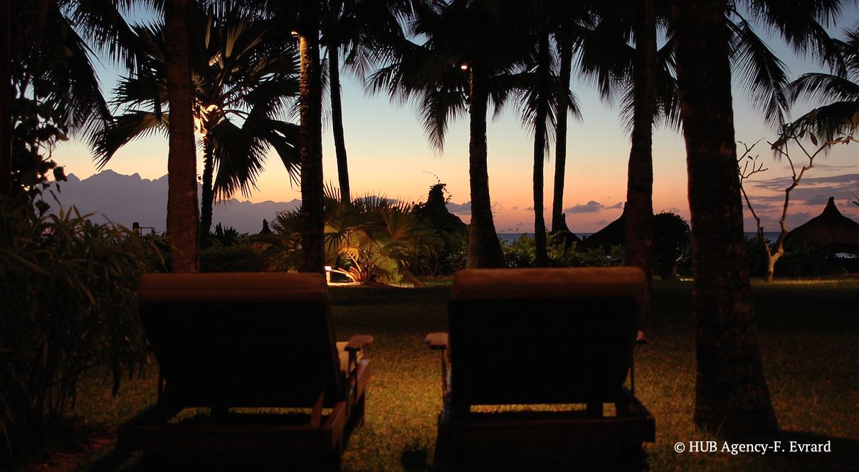 Ile Maurice Royal Palm Beachcomber coucher de soleil lune de miel voyage de noce