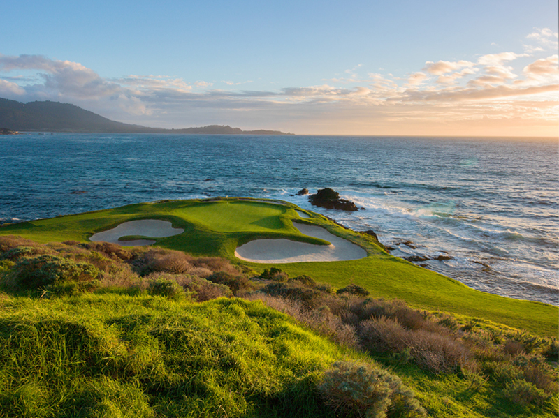 Golf Pebble beach California USA Etats-Unis hole 7