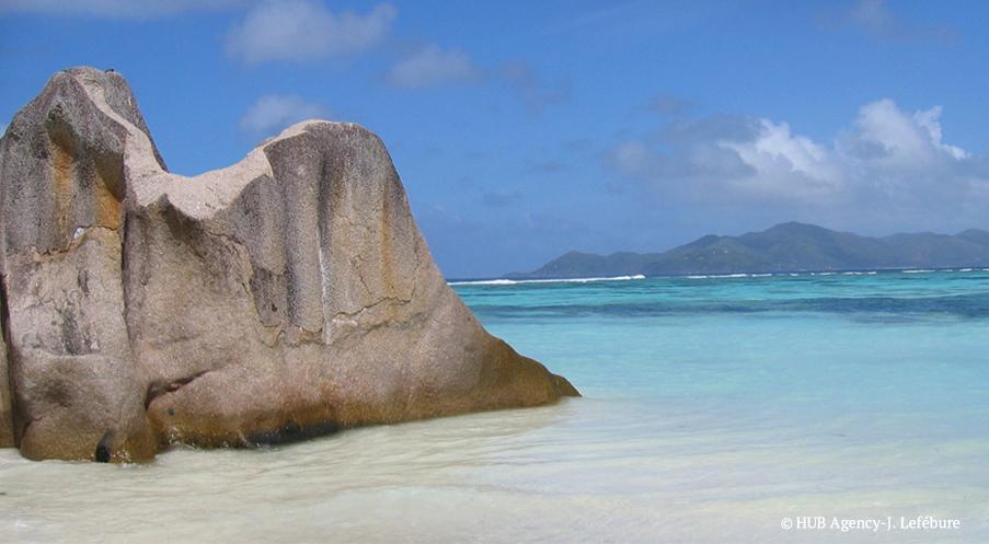Séjours Balnéaires Seychelles Anse d'Argent sable blanc mer turquoise