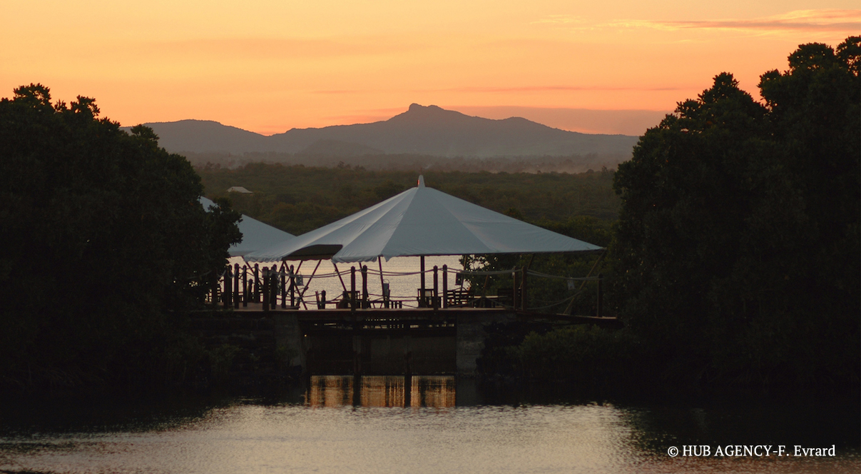 Ile Maurice Barachois coucher de soleil Restaurant Prince Maurice
